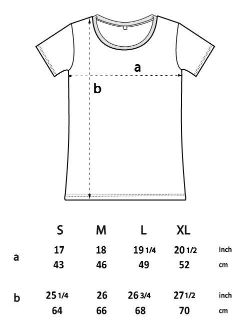 Ladies tshirt sizes