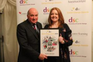 Our MD Sally Callow being presented with the award